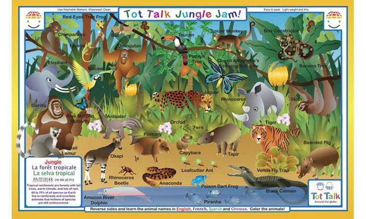 Explore The Jungle - Rainforest Activity Placemat by Tot Talk