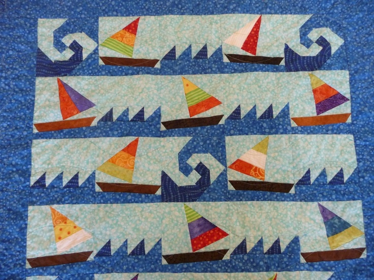 Sailboat Quilt Books Worth Reading Nautical Baby Quilt