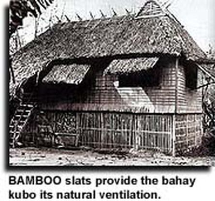 Philippine architecture bahay kubo provided of bamboo slats