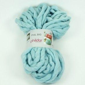 Kaufen Sie die wunderschöne Phildar Phil Big - XXL-Wolle in hellblau bei uns!