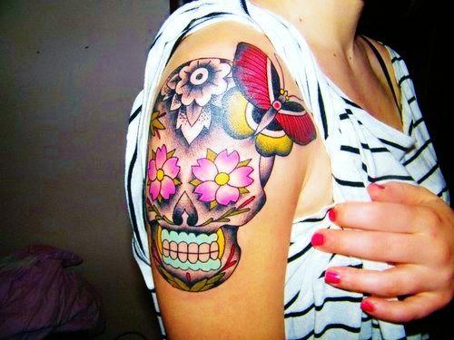 sugar skull: Tattoo Ideas, Body Art, Sugar Kull, Tattoo'S, Candy Skull, Sugar Skulls, Sugar Skull Tattoos, Ink