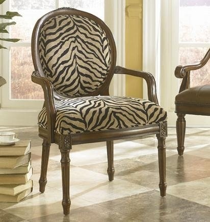 Awesome Brown Zebra Print Chair! Great Accent.