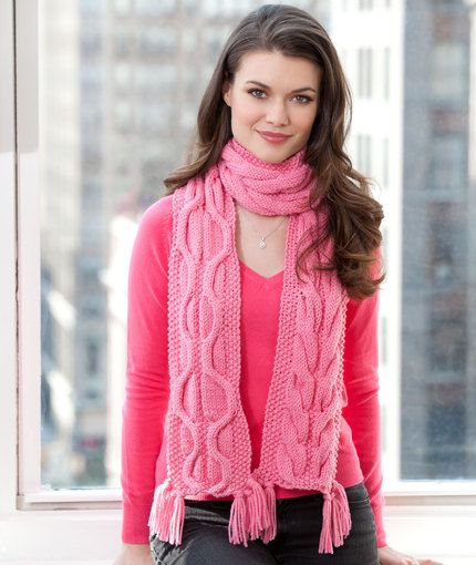 Compassion Scarf Free Knitting Pattern from Red Heart ...