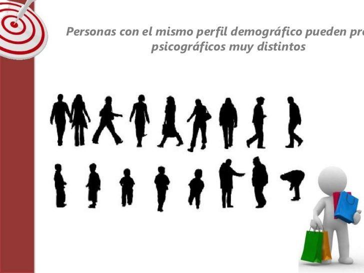 Personas con el mismo perfil demográfico pueden pre               psicográficos muy distintos