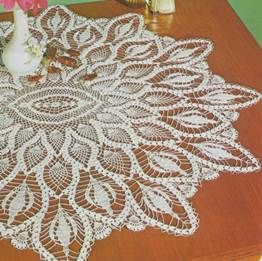Oval Table Center - floral eye – crochet patterns