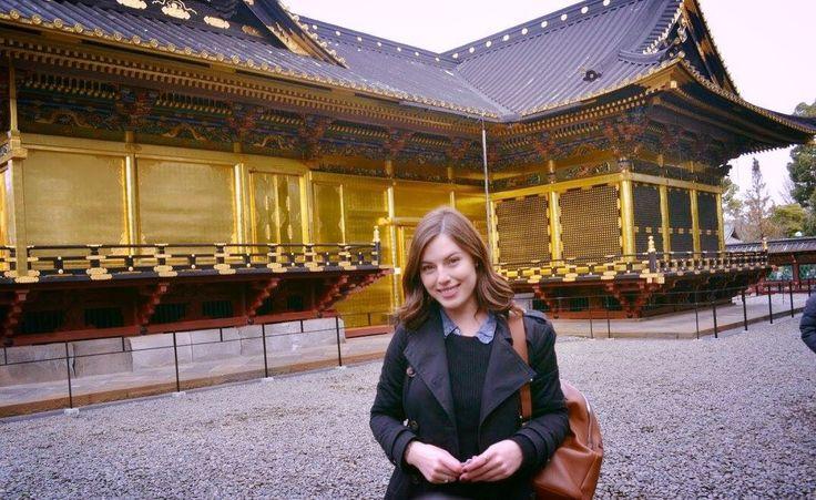 Me at the lovely gold shrine!