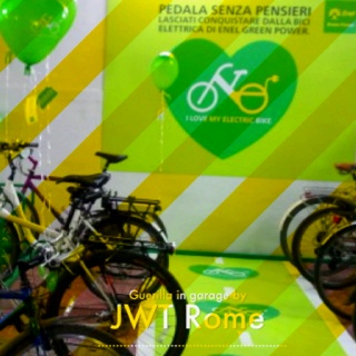 JWT Rome - we love electric bike - Guerilla in garage for Enel GP
