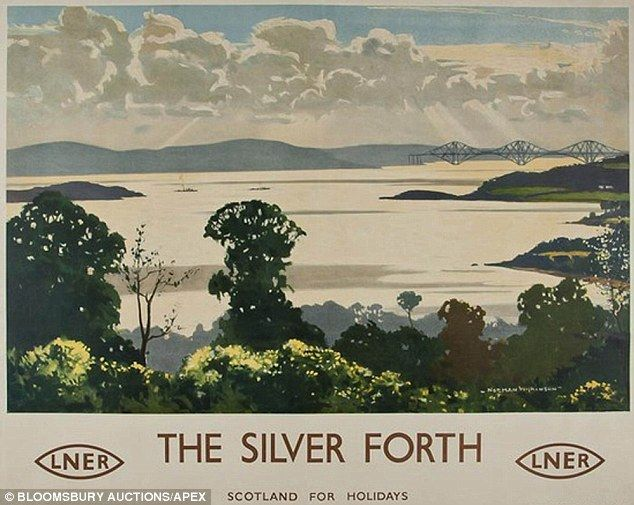 The Silver Forth railway poster