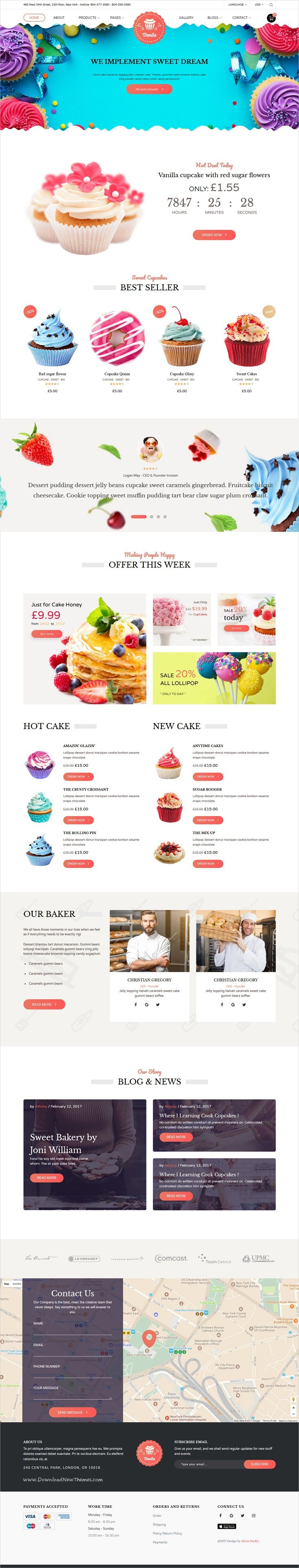 Vanila is an elegant and deliciously design 3in1 #bootstrap template for #bakery and #cake shop website download now➩ https://themeforest.net/item/bakery-vanila-cakery-bakery-html5-template/19842945?ref=Datasata