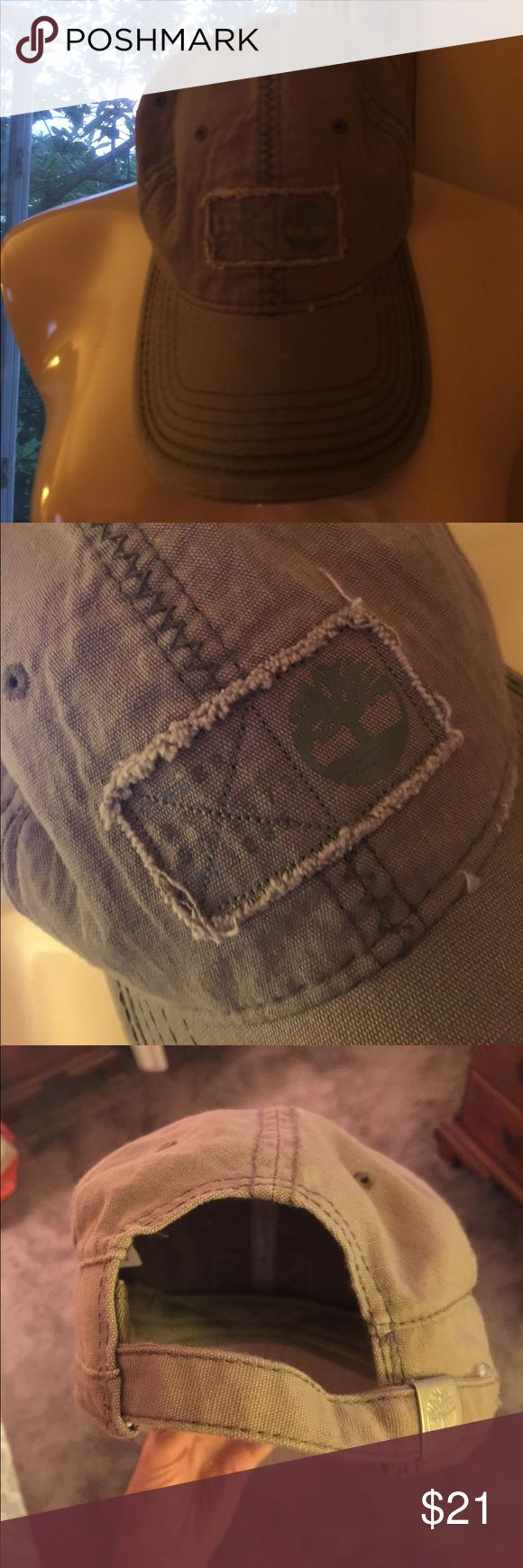 Timberland baseball hat. Distressed. Like new. Thx! Timberland Accessories Hats