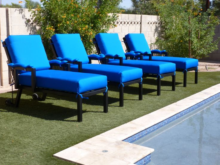 Hand Crafted Single Chaise Lounge Chairs. Arizona Iron Outdoor Patio  Furniture.