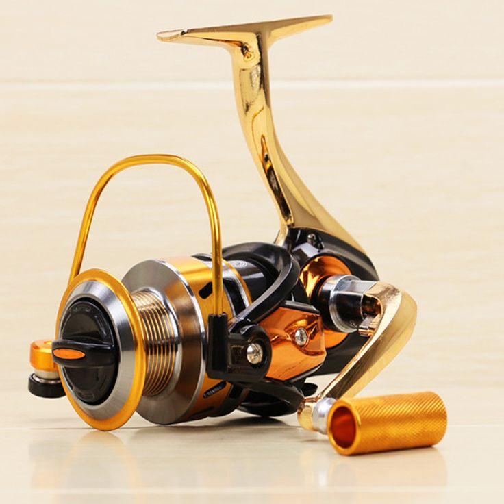 yumoshi  fishing reel 5.5: 1 full metal fishing gear wheels spinning reel carretilha para pesca  BF 1000-7000 12 + 1BB