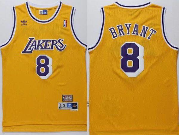 Kobe Bryant LA Lakers Hardwood Classics #8 Men's Swingman Jersey ...