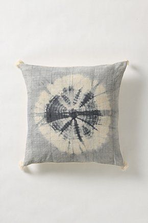 anthro tie dye pillow.  I wonder if something like this would go with my current (ridiculously bright) color schemes.