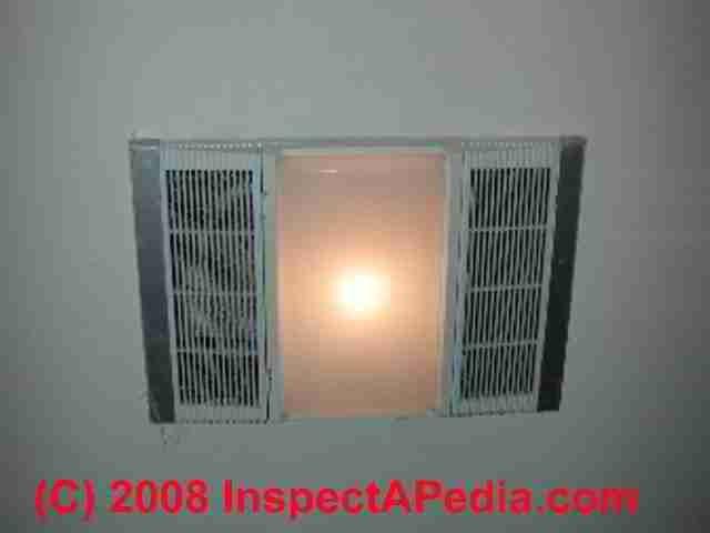 Heater Light Bathroom Vent Fan