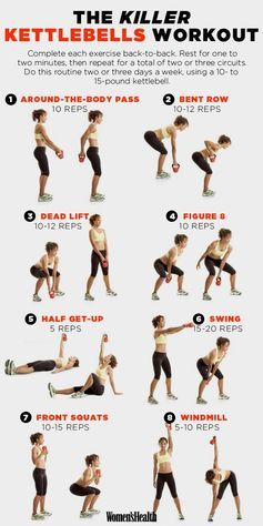 8 Kettlebell Exercises That'll Sculpt Your Entire Body | Women's Health Magazine                                                                                                                                                     More