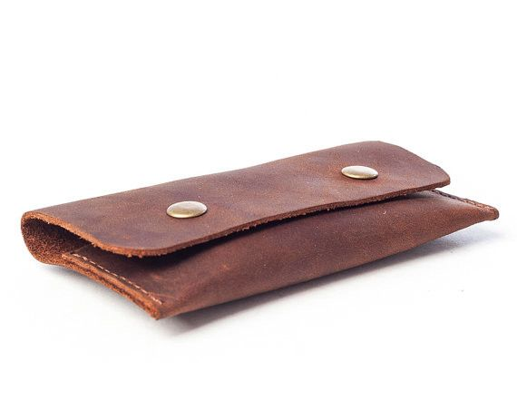This card holder is perfect for your business cards or you can even use it as a minimalist wallet. The leather is soft, both inside and out, and will feel lovely in your hand or pocket. This card hold