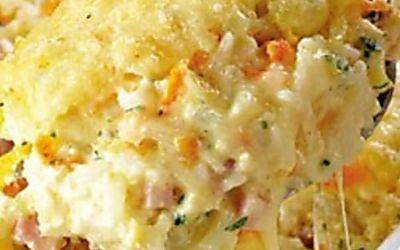 Arroz de forno com frango,milho e queijo - Receita CyberCook