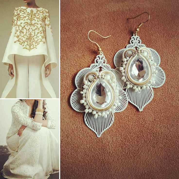 Indian Style in white&gold #solocosebelle#soutache#soutachejewelry#soutachemania#soutacheearrings#earrings#earringsoftheday#handmadeearrings#handmadejewelry#handmade#handmadewithlove#orecchini#orecchinifattiamano#fattoamano#fattoamanoconamore#madeinitaly#veroartigianatoitaliano#white#bianco#oro#gold#indianstyle#bollywood#outfitoftheday#outfit#picoftheday#presentforwomen#forher#alfemminile#sanvalentino