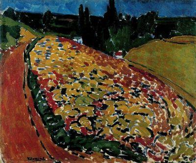 Ciudad de la pintura -VLAMINCK, Maurice de French Fauvist (1876-1958) The Hills at Rueil
