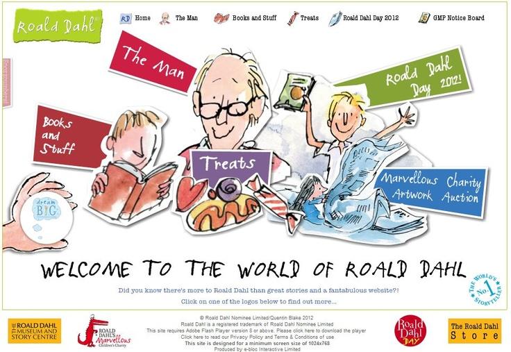 Web dedicada al escritor Roald Dahl