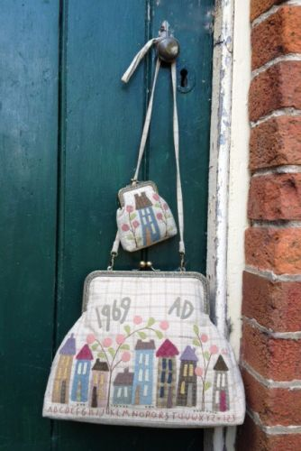 Homespun Street bag and Purse - Hatched and Patched