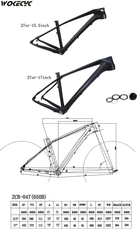 """2017 new model  MTB full carbon fiber  mtb frame  27.5 er Mountain bikes frames the 15"""" 17""""available,UD finish"""