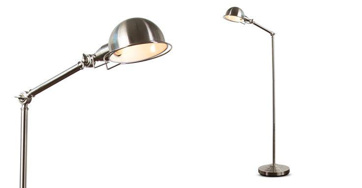 Jenkins Floor Lamp, Satin Nickel