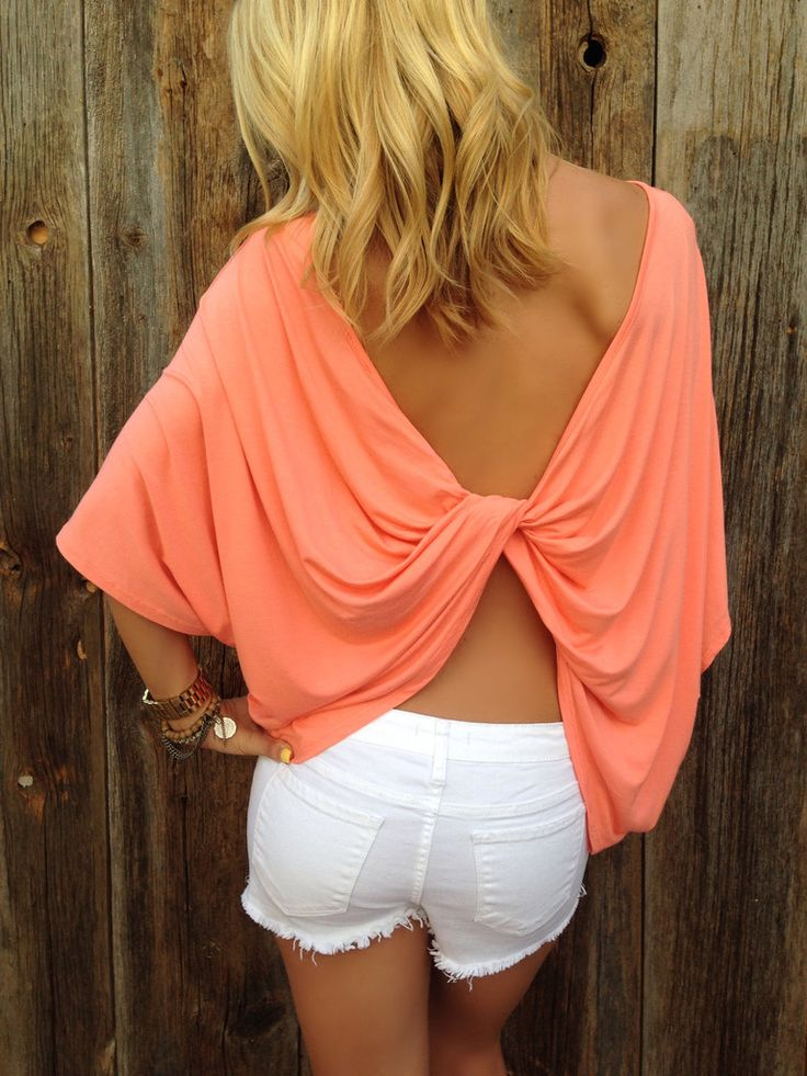 Twisted Open Back Top from Lola Jeannine
