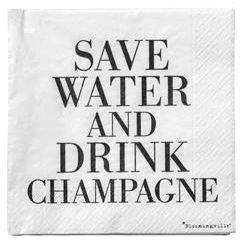 Bilde av Servietter Save Water Black