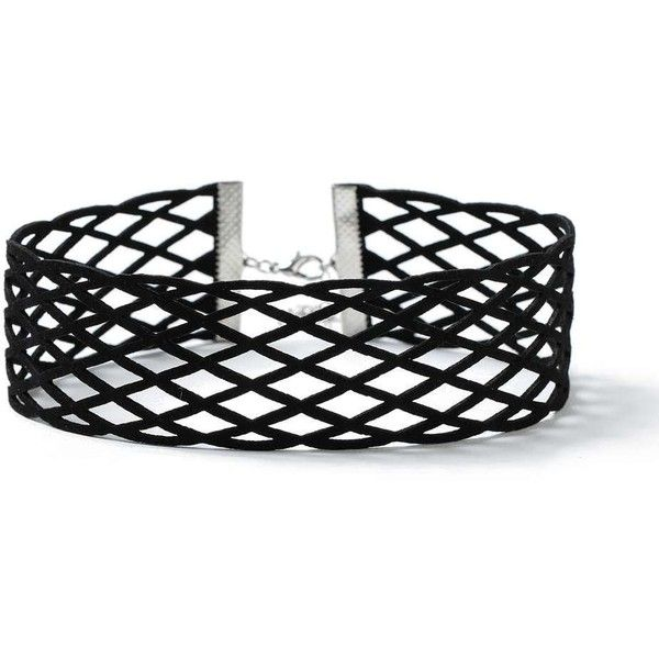 Miss Selfridge Black Fishnet Choker ($15) ❤ liked on Polyvore featuring jewelry, necklaces, black, miss selfridge, choker necklaces, choker jewelry and choker jewellery