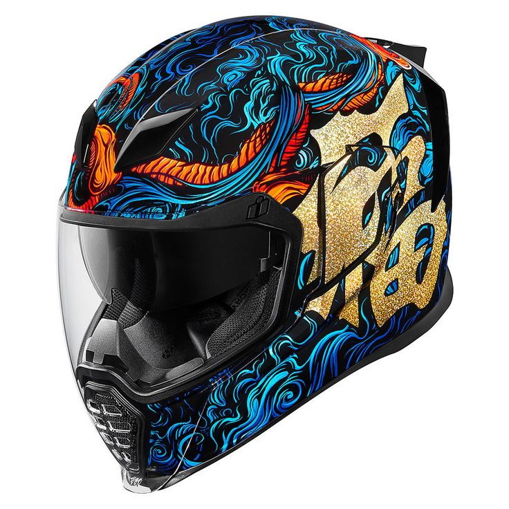 Good Fortune Blue Helmets Icon Motosports Ride