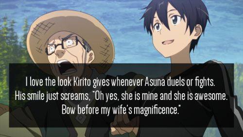 Jeez I really don't like SAO at all but this is hilarious cuz he looks so friggin derpy in this pic