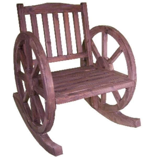 I Want This Wagon Wheel Rocking Chair Around The