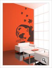 """Vinilo decorativo Flor4u®. Modelo """"Room 42"""" disponible en www.flor4u.com"""