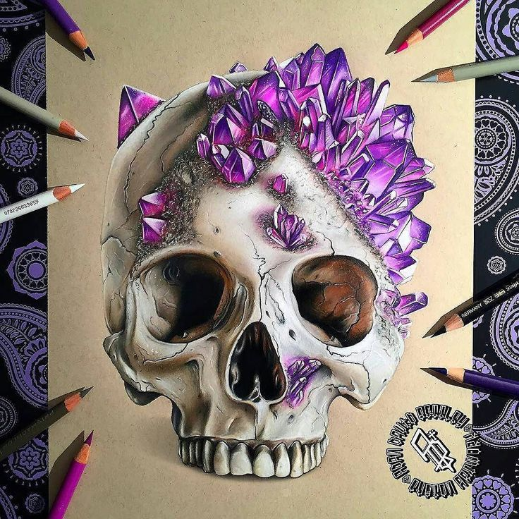 "Repost from @adbettley   CRYSTAL SKULL  Crystal skull finally finished! Prismacolour and Caran d'Ache Pencils on strathmore toned tan paper.  PRINTS ON SALE NOW! 8x11"" prints are available (LINK IN BIO) with worldwide shipping available   Thanks again for the Reference image: @jackofthedust go check out some more of his awesome skull pieces on his IG and his website jackofthedust.com.au!! #drawing #skullart #skulls #draw #photooftheday #picoftheday #drawingoftheday #cre8hype #sketch…"