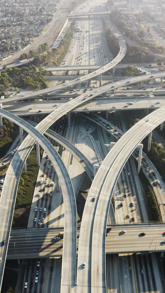 Los Angeles Highway Interchange - Better start mentally preparing for this road trip now!
