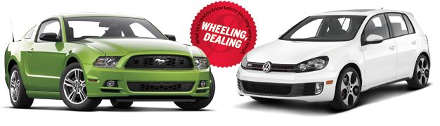 Car and Driver: The Question: Ford Mustang V6 or VW GTI for $350/Month? [Lease Throwdown!]