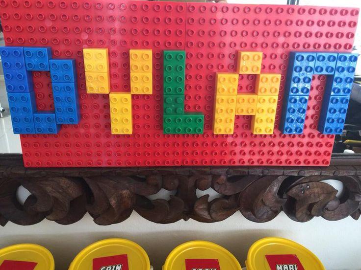 Lego name decoration