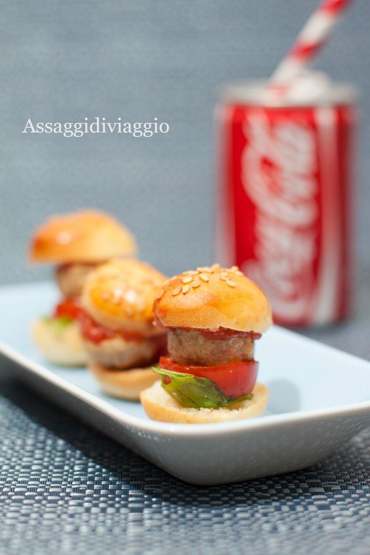Assaggidiviaggio: USA + Montersino= Mini hamburger di pollo di Luca Montersino