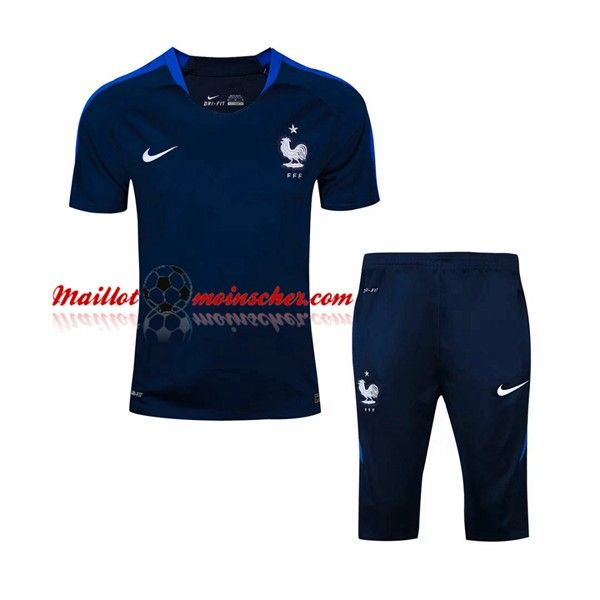 Nouveau T Shirt France + Pantalon 3/4 Bleu Marine Kit 2016 2017: fr