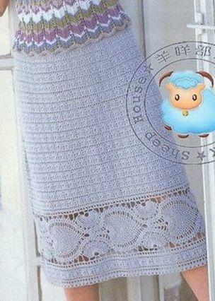 Padrão de Fringe para saias de crochê