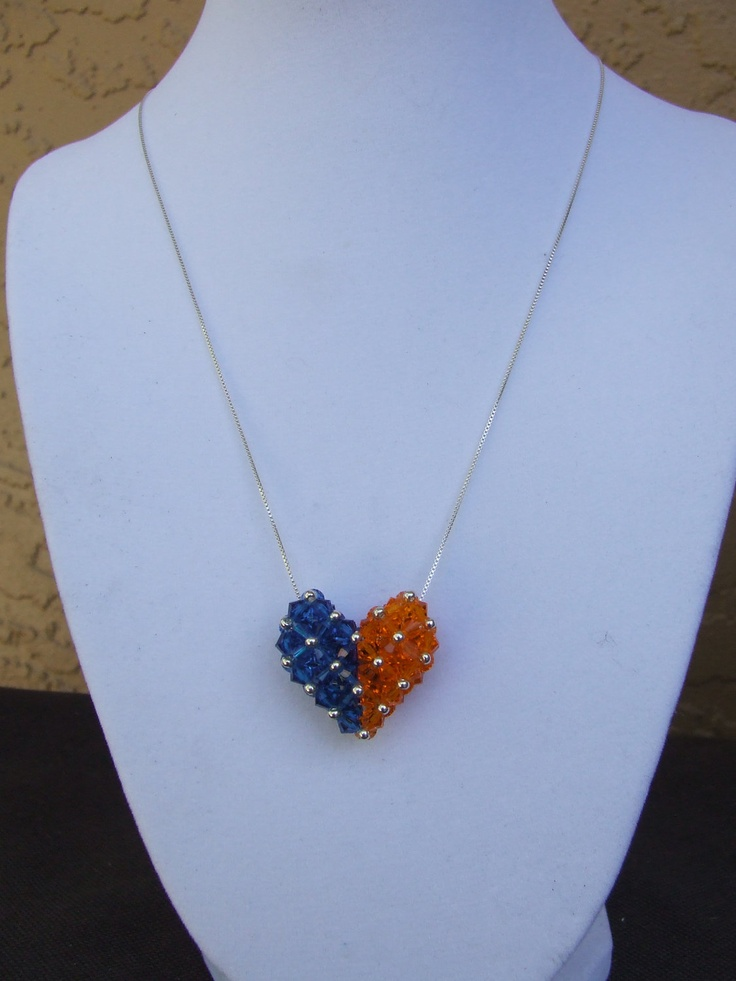 University of Florida Swarovski Crystal Heart.