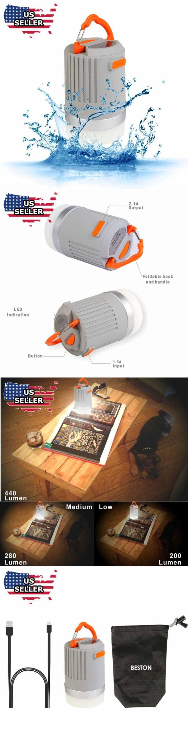Lanterns 168867: Beston 440 Lumens Ip65 Waterproof Portable Rechargeable Led Camping Lantern New -> BUY IT NOW ONLY: $47.83 on eBay!