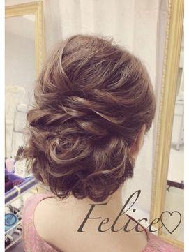 ブライダルサロン フェリーチェ(Bridal Salon Felice) ルーズシニヨンアップ☆