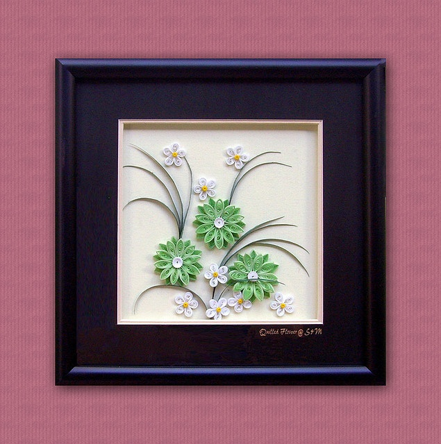 Quilling paper picture Flowers by CreartiveShop, via Flickr