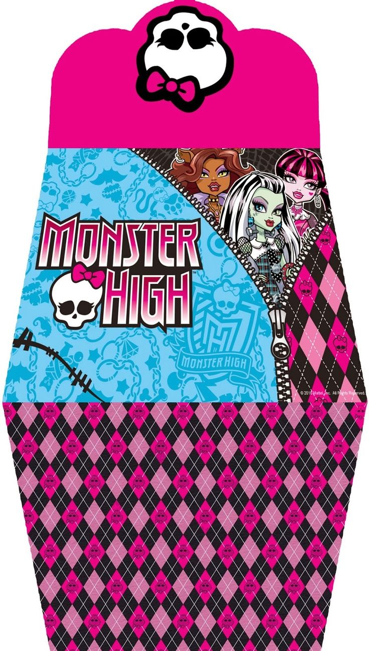 Monster High: Free Printable Purse Invitations.