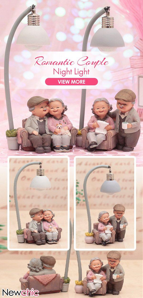 Creative Couple Night Light Ornaments Wedding Anni…