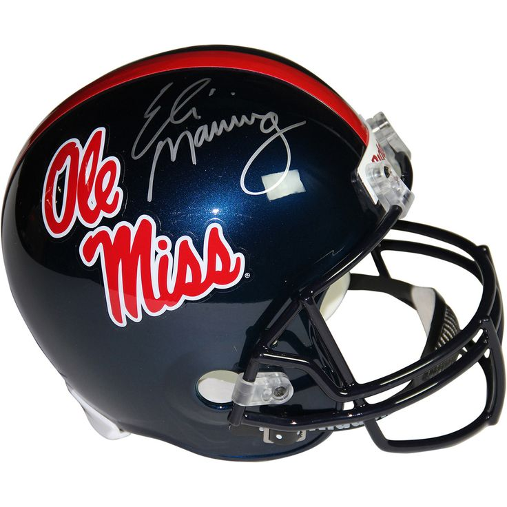 Eli Manning Signed Ole Miss Replica Full Size Helmet - This Ole Miss replica full size helmet has been personally hand-signed by Football star Eli Manning. Steiner Sports is the Official Memorabilia Partner of Eli Manning.100% Guaranteed AuthenticIncludes Steiner Sports Certificate of Authenticity Features Tamper-Evident Steiner HologramPerfect Collectors Item. Gifts > Licensed Gifts > Ncaa > All Colleges > University Of Mississippi Ole Miss. Weight: 1.00