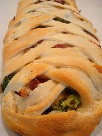 Mel's Kitchen Cafe | Cheesy Ham and Broccoli Crescent Braid